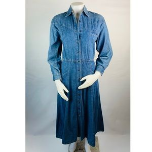 Vintage Denim Prairie Dress